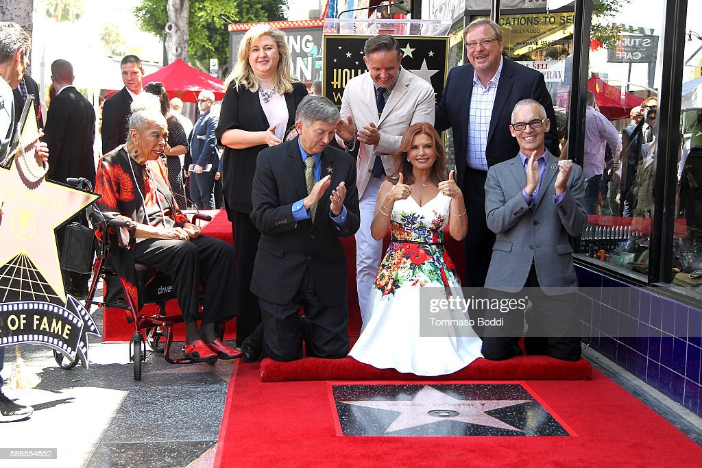 Actress Della Reese actress/producer Roma Downey producer Mark Burnett pastor Rick Warren and Hollywood Chamber of Commerce President/CEO Leron...