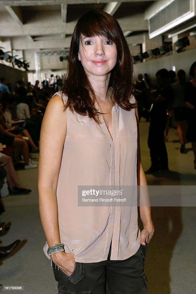 Actress Delphine McCarty attends Alexis Mabille show as part of the Paris Fashion Week Womenswear Spring/Summer 2014 at Docks en Seine on September 25, 2013 in Paris, France.