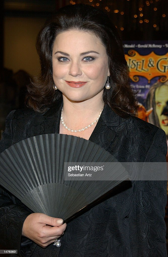 Actress Delta Burke arrives at the premiere of the movie 'Hansel & Gretel' on October 14, 2002 in Los Angeles, California.