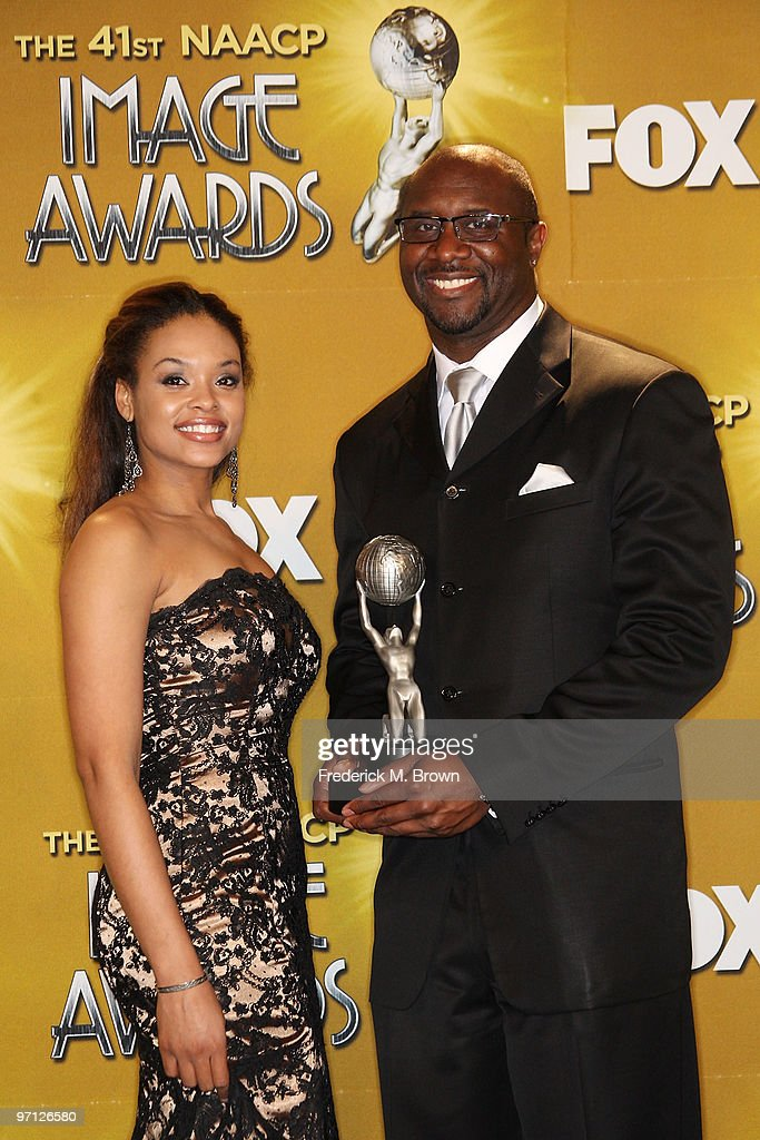 Actress <a gi-track='captionPersonalityLinkClicked' href=/galleries/search?phrase=Demetria+McKinney&family=editorial&specificpeople=5483441 ng-click='$event.stopPropagation()'>Demetria McKinney</a> and producer <a gi-track='captionPersonalityLinkClicked' href=/galleries/search?phrase=Roger+M.+Bobb&family=editorial&specificpeople=4531200 ng-click='$event.stopPropagation()'>Roger M. Bobb</a> poses in the press room during the 41st NAACP Image awards held at The Shrine Auditorium on February 26, 2010 in Los Angeles, California.