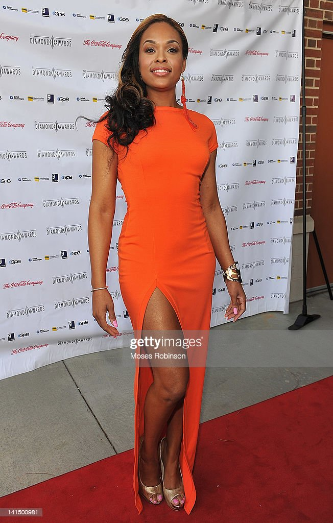 Actress <a gi-track='captionPersonalityLinkClicked' href=/galleries/search?phrase=Demetria+McKinney&family=editorial&specificpeople=5483441 ng-click='$event.stopPropagation()'>Demetria McKinney</a> attends the Not Alone Foundation Second Biennial Diamond Awards at Morehouse College Ray Charles Performing Arts Center on March 17, 2012 in Atlanta, Georgia.