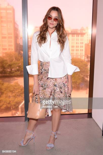 Actress Demi Harman attends Zimmermann fashion show during New York Fashion Week The Shows at Spring Studios on September 11 2017 in New York City