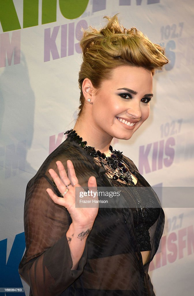 Actress <a gi-track='captionPersonalityLinkClicked' href=/galleries/search?phrase=Demi+Lovato&family=editorial&specificpeople=4897002 ng-click='$event.stopPropagation()'>Demi Lovato</a> attends 102.7 KIIS FM's Wango Tango 2013 held at The Home Depot Center on May 11, 2013 in Carson, California.