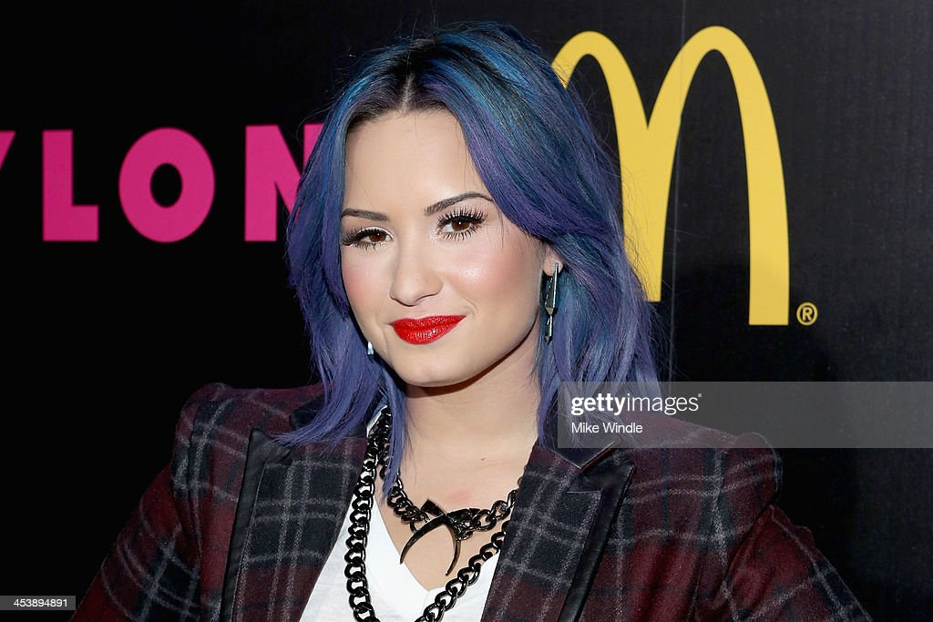 Actress <a gi-track='captionPersonalityLinkClicked' href=/galleries/search?phrase=Demi+Lovato&family=editorial&specificpeople=4897002 ng-click='$event.stopPropagation()'>Demi Lovato</a> attends NYLON + McDonald's Dec/Jan issue launch party, hosted by cover star <a gi-track='captionPersonalityLinkClicked' href=/galleries/search?phrase=Demi+Lovato&family=editorial&specificpeople=4897002 ng-click='$event.stopPropagation()'>Demi Lovato</a> on December 5, 2013 in West Hollywood, California.