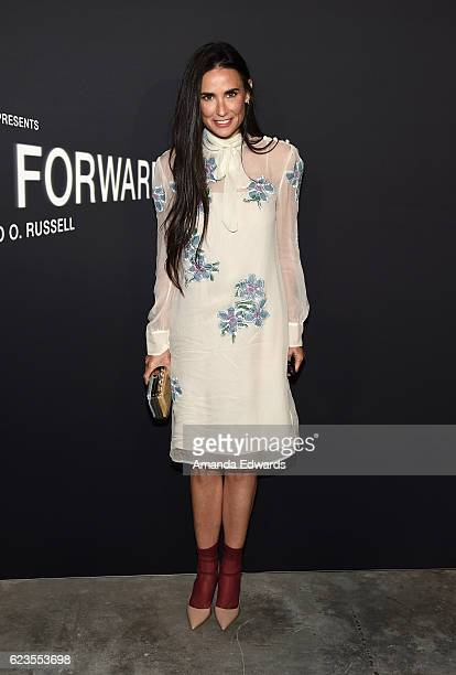 Actress Demi Moore arrives at a screening of David O Russell's 'Past Forward' hosted by Prada at Hauser Wirth Schimmel on November 15 2016 in Los...