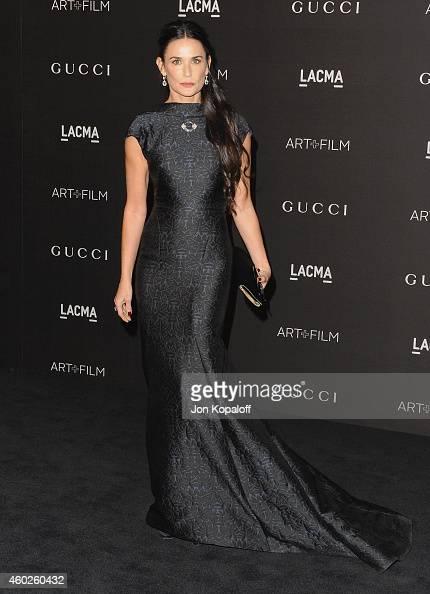 Actress Demi Moore arrives at the 2014 LACMA Art Film Gala Honoring Quentin Tarantino And Barbara Kruger at LACMA on November 1 2014 in Los Angeles...
