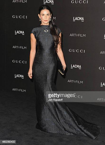 Actress Demi Moore arrives at the 2014 LACMA Art Film Gala Honoring Quentin Tarantino And Barbara Kruger at LACMA on November 1 2014 in Los Angeles...