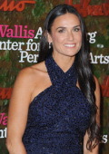 Actress Demi Moore arrives at the Wallis Annenberg Center For Performing Arts Inaugural Gala at Wallis Annenberg Center for the Performing Arts on...