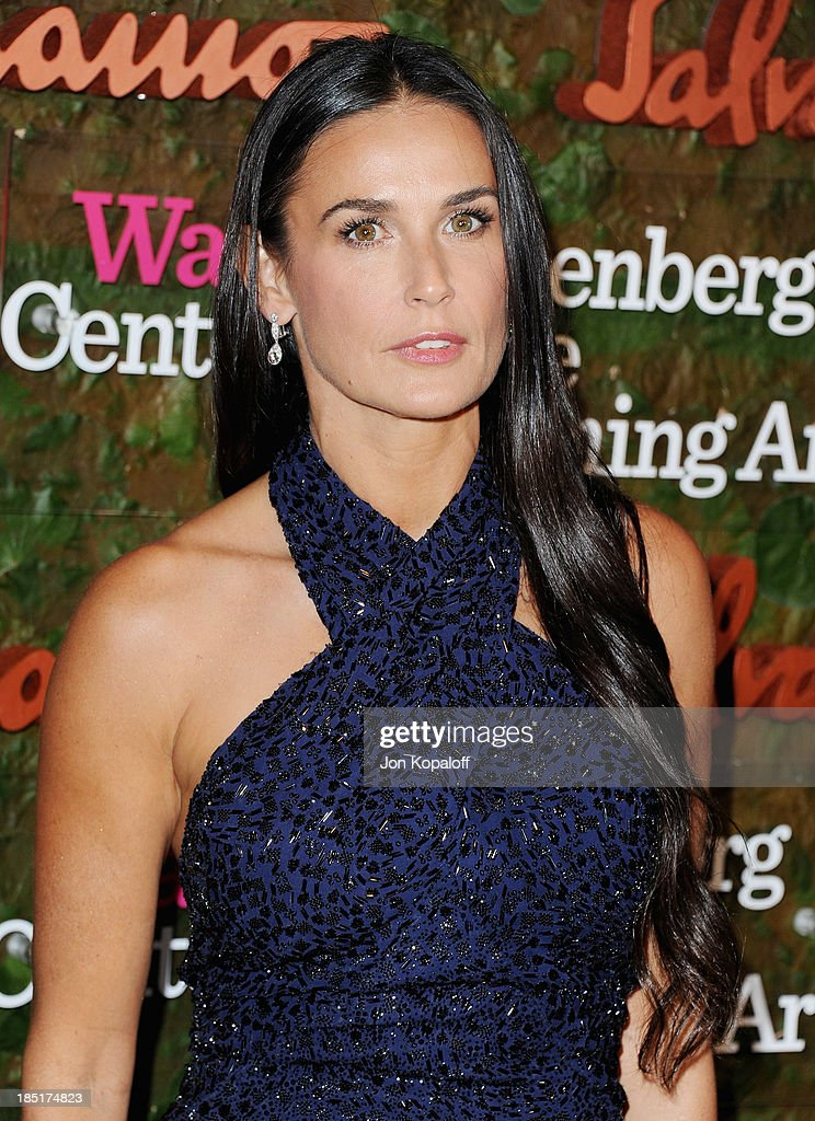 Actress Demi Moore arrives at the Wallis Annenberg Center For Performing Arts Inaugural Gala at Wallis Annenberg Center for the Performing Arts on October 17, 2013 in Beverly Hills, California.
