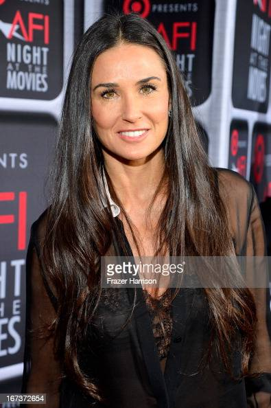 Actress Demi Moore arrives on the red carpet for Target Presents AFI's Night at the Movies at ArcLight Cinemas on April 24 2013 in Hollywood...