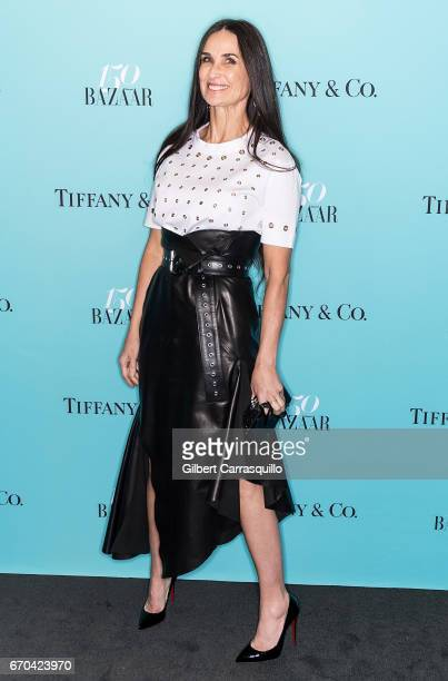 Actress Demi Moore attends Harper's BAZAAR 150th Anniversary Event presented with Tiffany Co at The Rainbow Room on April 19 2017 in New York City