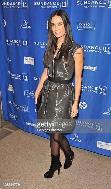 Actress Demi Moore attends 'Margin Call' Premiere at the Eccles Center Theatre during the 2011 Sundance Film Festival on January 25 2011 in Park City...