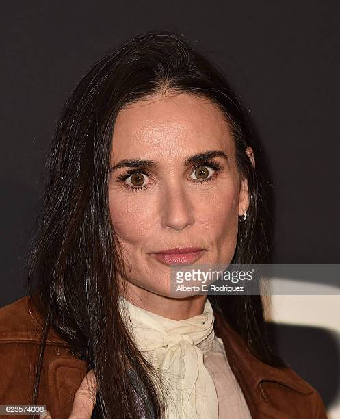 Actress Demi Moore attends Prada Presents 'Past Forward' by David O Russell premiere at Hauser Wirth Schimmel on November 15 2016 in Los Angeles...