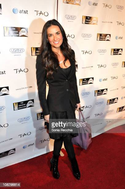 Actress Demi Moore attends the 2011 Creative Coalition Spotlight Initiative Awards at TAO at the Samsung Galaxy Tab Lift during the 2011 Sundance...