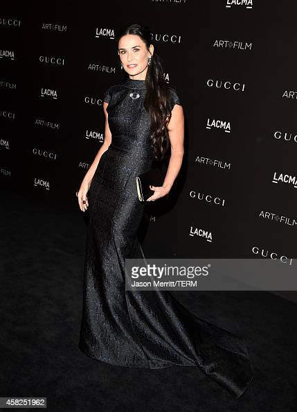 Actress Demi Moore attends the 2014 LACMA Art Film Gala honoring Barbara Kruger and Quentin Tarantino presented by Gucci at LACMA on November 1 2014...