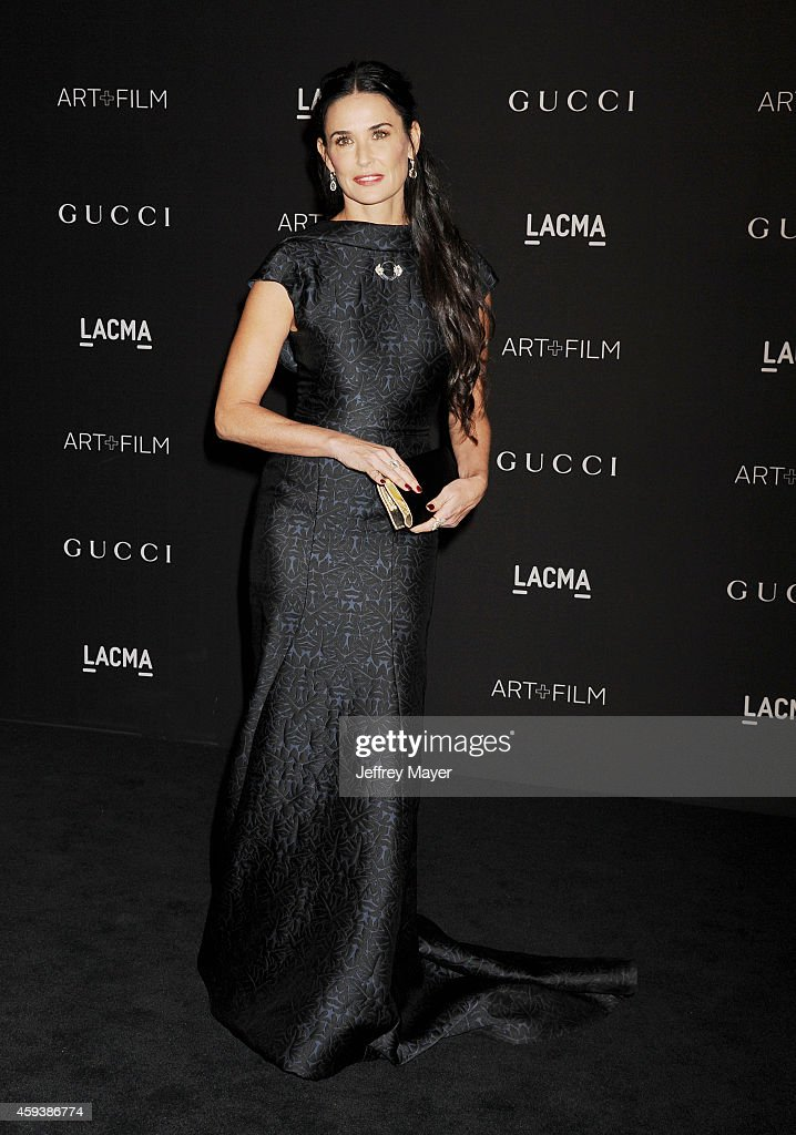Actress Demi Moore attends the 2014 LACMA Art + Film Gala honoring Barbara Kruger and Quentin Tarantino presented by Gucci at LACMA on November 1, 2014 in Los Angeles, California.