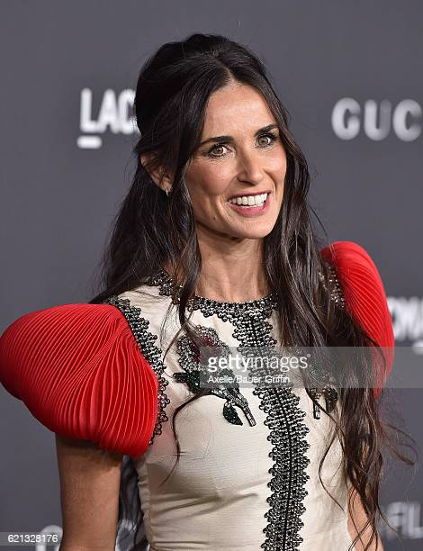 Actress Demi Moore attends the 2016 LACMA Art Film Gala honoring Robert Irwin and Kathryn Bigelow presented by Gucci at LACMA on October 29 2016 in...