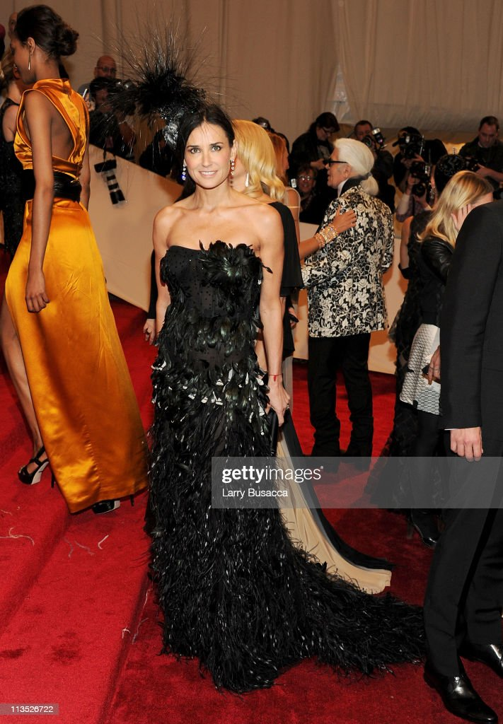 Actress Demi Moore attends the 'Alexander McQueen: Savage Beauty' Costume Institute Gala at The Metropolitan Museum of Art on May 2, 2011 in New York City.