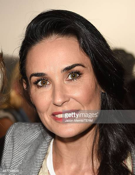Actress Demi Moore attends the Brian Bowen Smith WILDLIFE show hosted by Casamigos Tequila at De Re Gallery on October 23 2014 in West Hollywood...