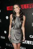 Actress Demi Moore attends the CW Network celebration of its new series 'The Beautiful Life TBL' at the Simyone Lounge on September 12 2009 in New...