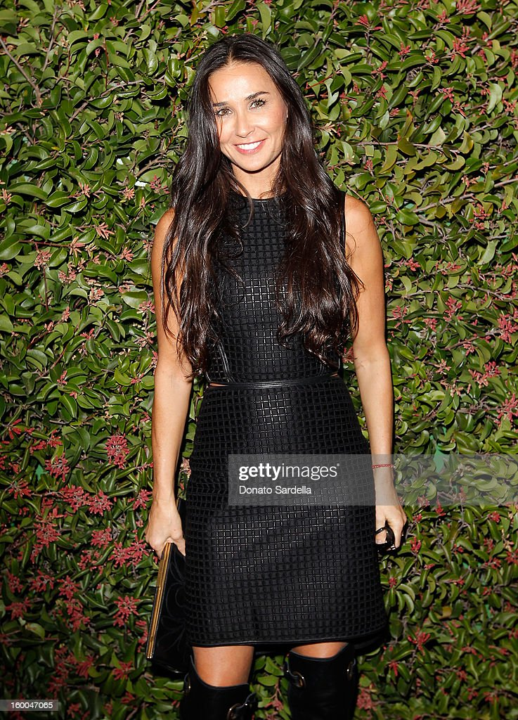 Actress Demi Moore attends the Ferragamo presentation Spring Summer Runway Collection with VIP dinner, hosted by Jacqui Getty and Harpers BAZAAR at Chateau Marmont on January 24, 2013 in Los Angeles, California.