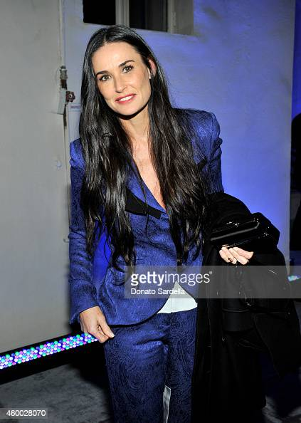 Actress Demi Moore attends the launch of Just One Eye's Ulysses Tier 1 The Ultimate Disaster Relief Kit on December 5 2014 in Los Angeles California