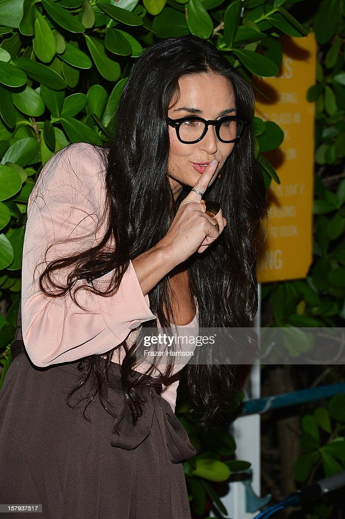 Actress Demi Moore attends the OHWOW & HTC celebration of the release of 'TERRYWOOD' at The Standard Hotel & Spa on December 7, 2012 in Miami Beach, Florida.
