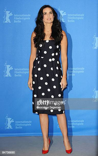 Actress Demi Moore attends the photocall for 'Happy Tears' as part of the 59th Berlin Film Festival at the Grand Hyatt Hotel on February 11 2009 in...