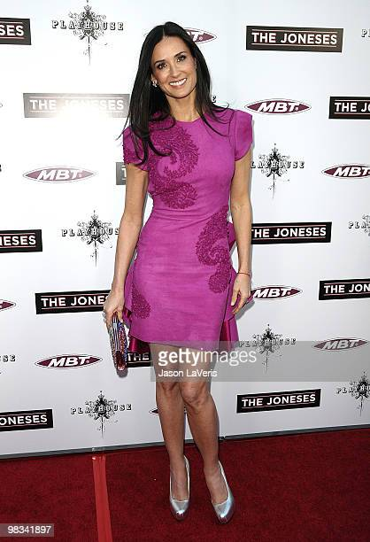 Actress Demi Moore attends the premiere of 'The Joneses' at ArcLight Cinemas on April 8 2010 in Hollywood California