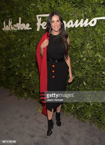 Actress Demi Moore attends the Salvatore Ferragamo Celebration of 100 Years in Hollywood with the newly unveiled Rodeo Drive flagship at Salvatore...