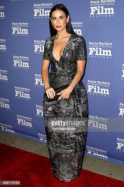 Actress Demi Moore attends the Santa Barbara International Film Festival's 9th annual Kirk Douglas Award for excellence in film honoring Jessica...