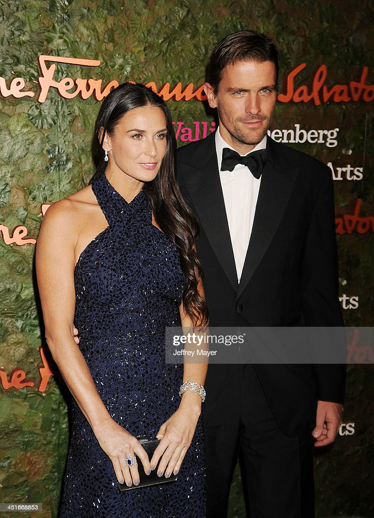 Actress Demi Moore; James Ferragamo arrive at the Wallis Annenberg Center For The Performing Arts Inaugural Gala at Wallis Annenberg Center for the Performing Arts on October 17, 2013 in Beverly Hills, California.