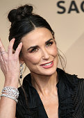 Actress Demi Moore poses in the press room at the 22nd Annual Screen Actors Guild Awards at The Shrine Auditorium on January 30 2016 in Los Angeles...