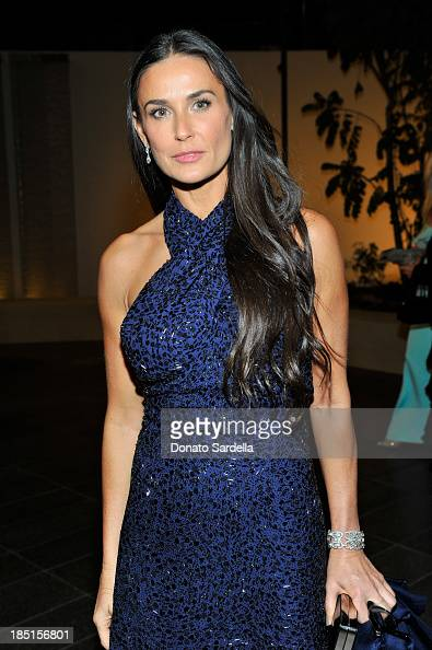 Actress Demi Moore wearing Ferragamo attends the Wallis Annenberg Center for the Performing Arts Inaugural Gala presented by Salvatore Ferragamo at...