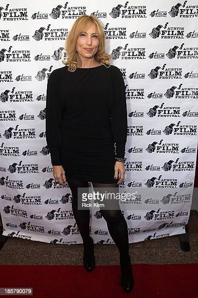 Actress Denise Grayson arrives at the world premiere of 'Coffee Kill Boss' during the Austin Film Festival at The Paramount Theatre on October 24...