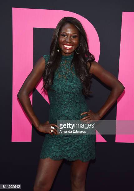 Actress Denise Milfort arrives at the premiere of Universal Pictures' 'Girls Trip' at the Regal LA Live Stadium 14 on July 13 2017 in Los Angeles...