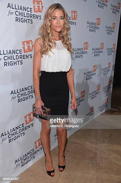 Actress Denise Richards arrives to The Alliance for Children's Rights 22nd Annual Dinner at The Beverly Hilton Hotel on April 7 2014 in Beverly Hills...