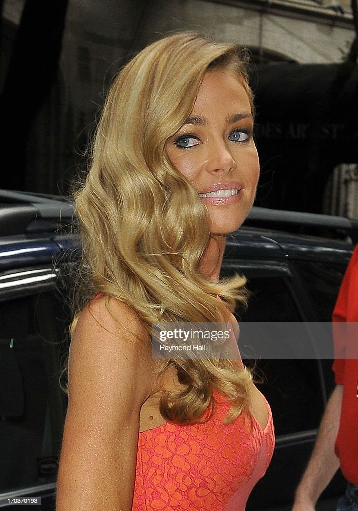 Actress Denise Richards is seen outside the Katie Couric Show on June 11, 2013 in New York City.