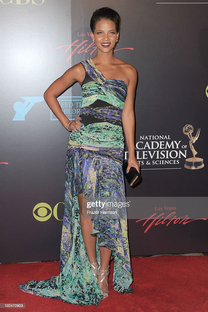 Actress <a gi-track='captionPersonalityLinkClicked' href=/galleries/search?phrase=Denise+Vasi&family=editorial&specificpeople=622026 ng-click='$event.stopPropagation()'>Denise Vasi</a> arrives at the 37th Annual Daytime Entertainment Emmy Awards held at the Las Vegas Hilton on June 27, 2010 in Las Vegas, Nevada.