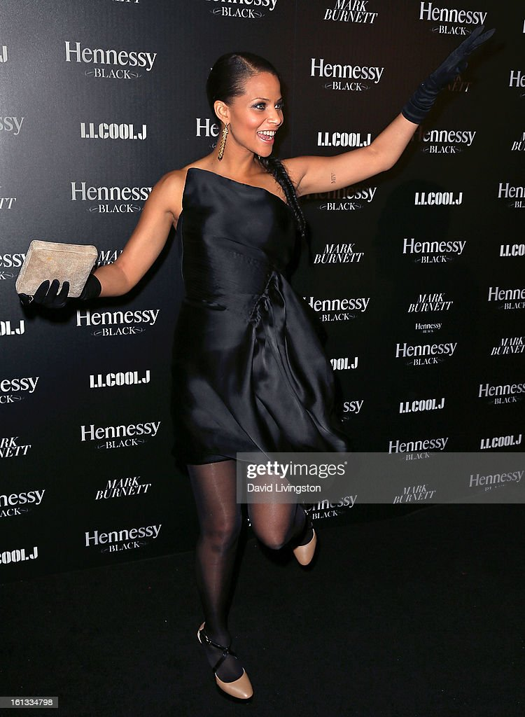 Actress Denise Vasi attends the Hennessy Toasts Achievements In Music event with GRAMMY Host LL Cool J and Mark Burnett at The Bazaar at the SLS Hotel Beverly Hills on February 9, 2013 in Los Angeles, California.