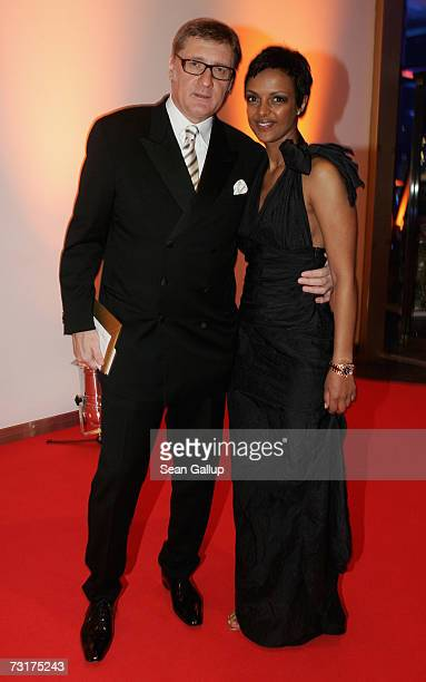 Actress Dennenesch Zoude and director Carlo Rola attend the 42nd Goldene Kamera Awards February 1 2007 in Berlin Germany