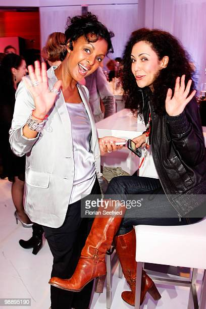 Actress Dennenesch Zoude and tv host Anastasia Zampounidis attend the 'OK Style Award 2010' at the british embassy on May 6 2010 in Berlin Germany