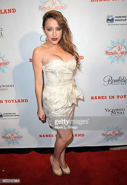 Actress Devanny Pinn arrives for the 2015 Babes In Toyland And BenchWarmer Charity Toy Drive held at Avalon on December 9 2015 in Hollywood California