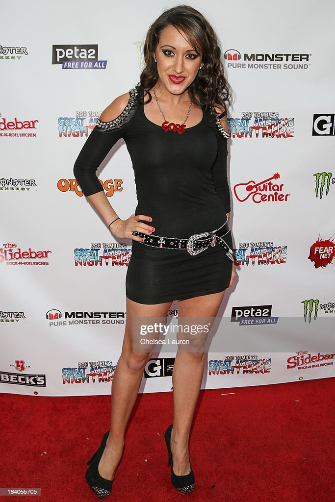 Actress Devanny Pinn attends Rob Zombie's Great American Nightmare VIP opening night party at Pomona FEARplex on October 10, 2013 in Pomona, California.