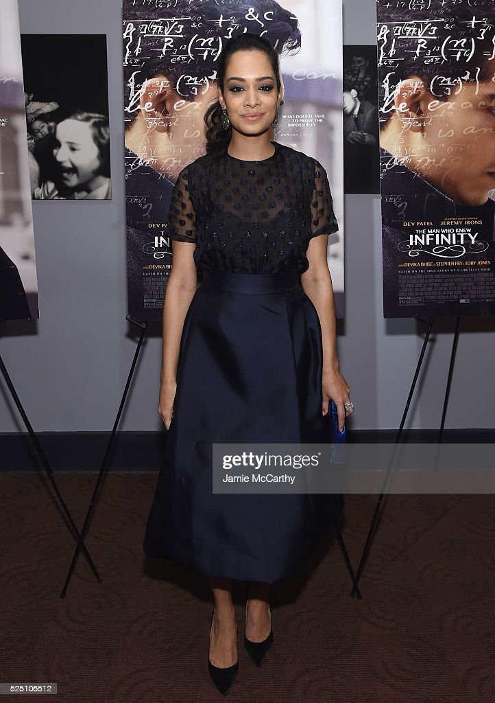 Actress Devika Bhise attends 'The Man Who Knew Infinity' New York Screening at Chelsea Bow Tie Cinemas on April 27, 2016 in New York City.