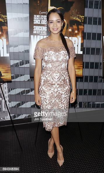 Actress Devika Bhise attends the 'White Girl' New York premiere at Angelika Film Center on August 22 2016 in New York City