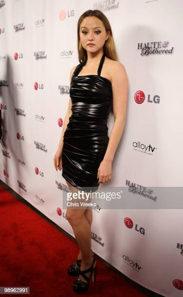 Actress Devin Aoki attends a party for 'Haute Bothered' Season 2 hosted by LG Mobile at the Thompson Hotel on May 10 2010 in Beverly Hills California