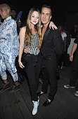 Actress Devon Aoki and designer Jeremy Scott attend 'Jeremy Scott The People's Designer' afterparty hosted by The Rooftop at The Hollywood Roosevelt...