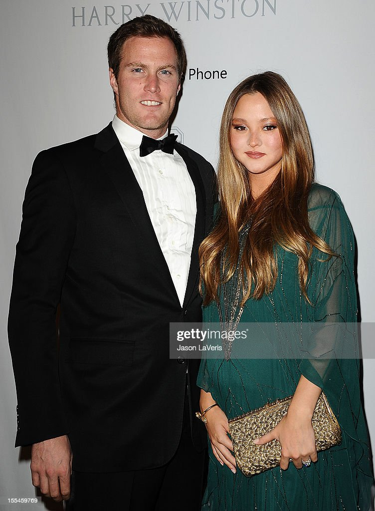 Actress Devon Aoki (R) and James Bailey attend the 1st annual Baby2Baby gala at Book Bindery on November 3, 2012 in Culver City, California.