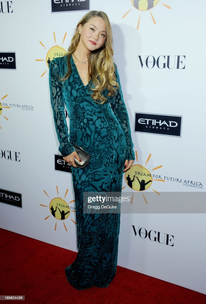 Actress <a gi-track='captionPersonalityLinkClicked' href=/galleries/search?phrase=Devon+Aoki&family=editorial&specificpeople=217563 ng-click='$event.stopPropagation()'>Devon Aoki</a> arrives at the Dream For Future Africa Foundation Gala at Spago on October 24, 2013 in Beverly Hills, California.